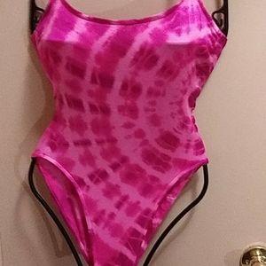 Speedo tye dye one pieace pink /pink